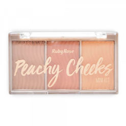Paleta de Blush Peachy Cheeks - Ruby Rose - HB61113 fechada - Sousa VIP